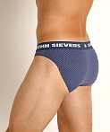 John Sievers STRETCH MESH Natural Pouch Brief Navy, view 4