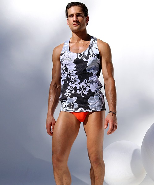 Rufskin Costa Stretch Sport Tank Top Multi Color Print