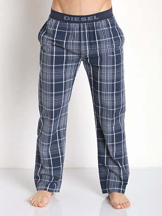 Diesel Plaid Mardock Lounge Pants Blue