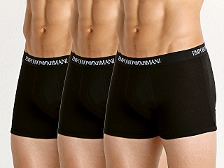 Emporio Armani Pure Cotton Boxer Brief 3-Pack Black