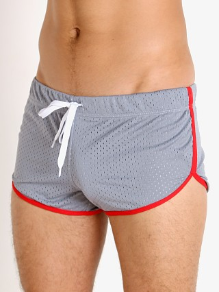 Model in grey/red Jack Adams Air Mesh Track Short