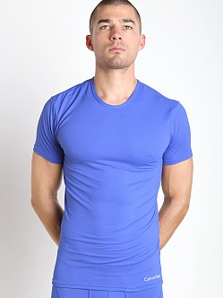 Calvin Klein Launch Air FX Micro Crew Neck T Shirt Cobalt Water