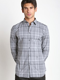 Diesel S-Crickets Yarn Dyed Check Shirt Black