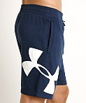 Under Armour Rival Fleece Logo Sweatshort Academy/White, view 3