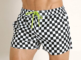 2xist Fashion Ibiza Swim Shorts Black & White Check