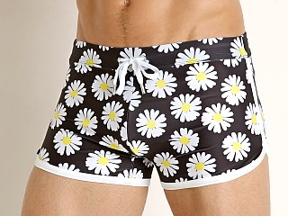2xist Jogger Cabo Swim Trunk Flower Power Black