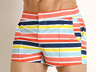 2xist Yacht Swim Shorts Beach Stripe Ember Glow