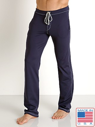 Sauvage Low Rise Nylon/Lycra Workout Pant Navy
