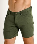 St33le Knit Jeans Shorts Olive, view 3