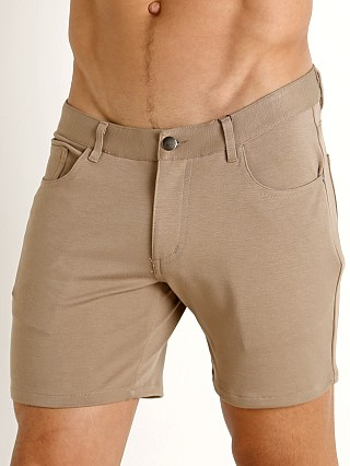 St33le Knit Jeans Shorts Dark Khaki