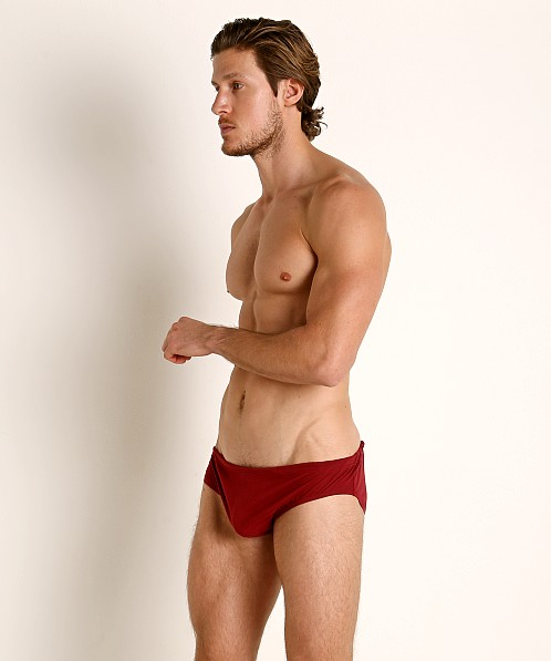 Rick Majors UltraLite Stretch Cotton Drawcord Brief Burgundy
