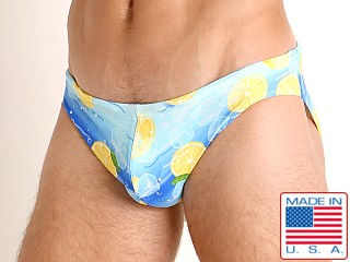 Model in iced lemonade LASC St. Tropez Low Rise Swim Brief
