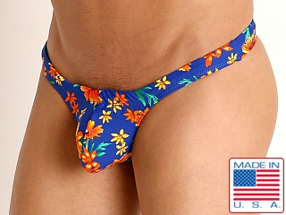 Model in daisy daze Rick Majors Low Rise Swim Thong