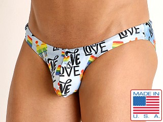 Model in love is love Rick Majors Super Low Rise Swim Brief