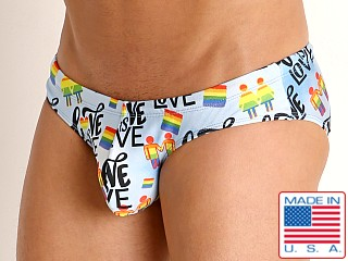 Model in love is love Rick Majors Low Rise Swim Brief