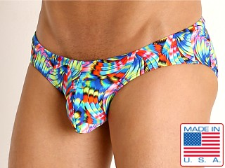 Model in scintillate Rick Majors Low Rise Swim Brief