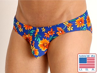 Model in daisy daze Rick Majors Low Rise Swim Brief
