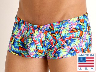 Model in scintillate Rick Majors Low Rise Swim Trunk