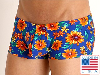 Model in daisy daze Rick Majors Low Rise Swim Trunk