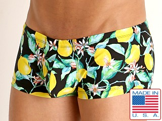 Model in lemon squeeze Rick Majors Low Rise Swim Trunk