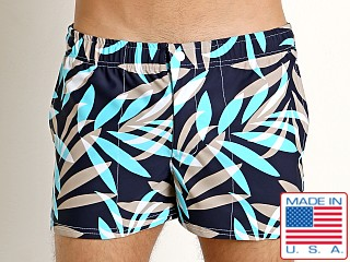 LASC Malibu Swim Shorts Tan Tropical