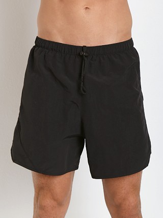 Model in black Soffe Army PT Lined Nylon Short