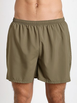Model in olive drab Soffe Military Performance Short