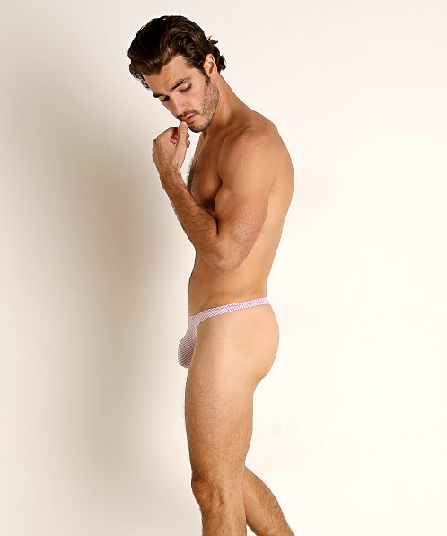 Rick Majors Two-Tone Rib Thong Purple