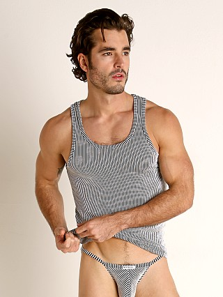 Complete the look: Rick Majors Two-Tone Rib Tank Top Black