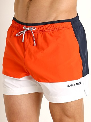 Hugo Boss Filefish Swim Shorts Orange