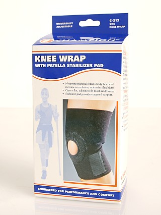 Model in  PCP Champion Knee Wrap And Stabilizing Pad