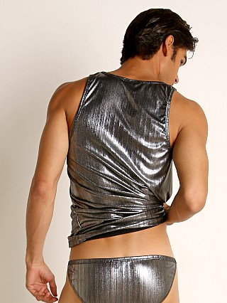 Complete the look: Rick Majors Lustrous Rib Tank Top Silver