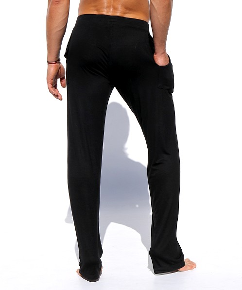 Rufskin Log Stretch Rayon Lounge Pants Black