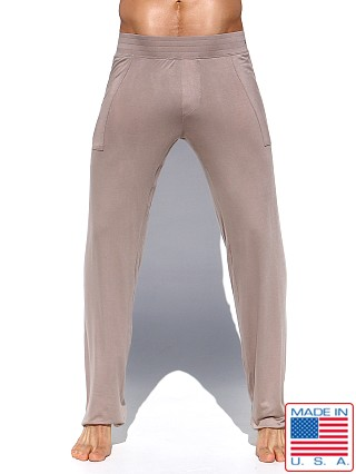 Model in sand Rufskin Log Stretch Rayon Lounge Pants