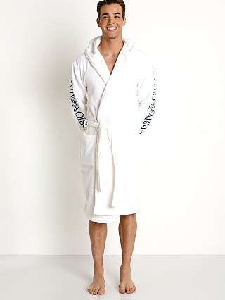 Emporio Armani 100% Cotton Bathrobe White