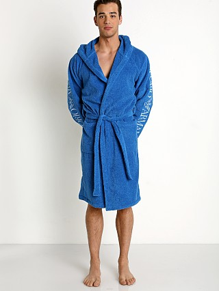 Emporio Armani 100% Cotton Bathrobe Sky