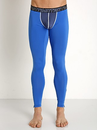 Timoteo Aero-Tech Sheer Pouch Leggings Blue