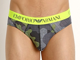 Emporio Armani Pop Print Brief Fluo Yellow Camou