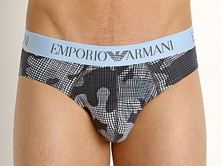 Emporio Armani Pop Print Brief Light Blue Camou
