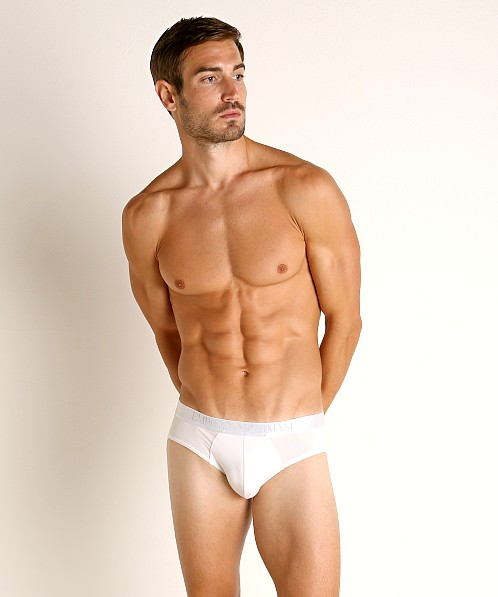 Emporio Armani Soft Modal Brief White