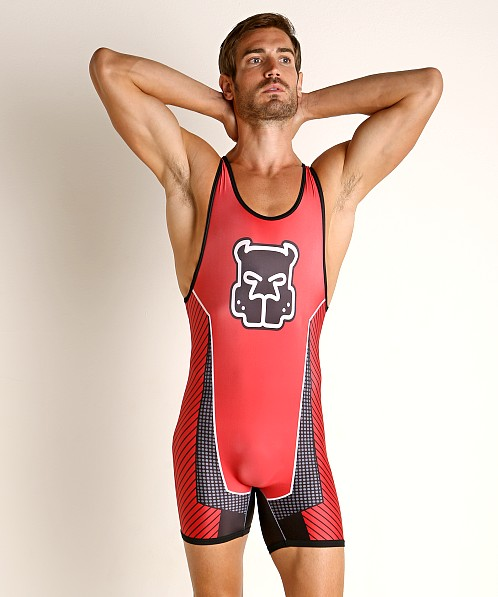 Cell Block 13 Kennel Club Slit Back Scout Singlet Red