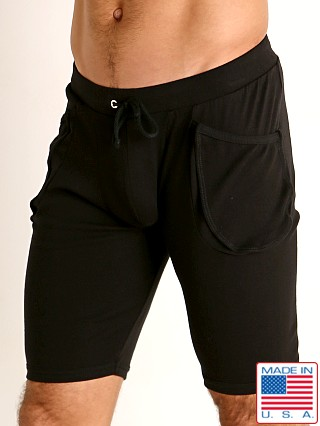 Model in black Go Softwear Lumberjack Yoga Short