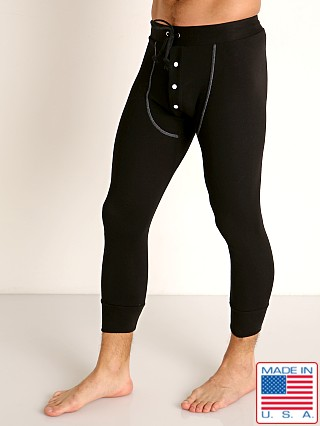 Model in black Go Softwear Lumberjack Long Johns