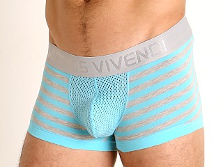 Model in aqua Modus Vivendi Pop Perforated Mesh Trunk