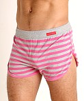 Modus Vivendi Pop Stripes Lounge Short Fuchsia, view 3