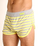 Modus Vivendi Pop Stripes Lounge Short Yellow, view 3