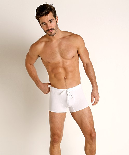Go Softwear Pool Party Ribbed Lounge Short White