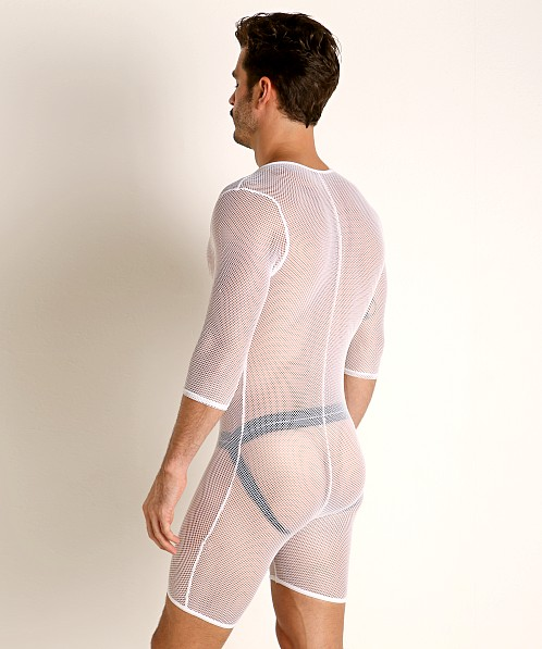 Go Softwear Pool Party Stretch Mesh Bodysuit White