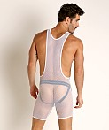 Go Softwear Pool Party Stretch Mesh Singlet White, view 2
