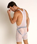 Go Softwear Pool Party Stretch Mesh Singlet White, view 4